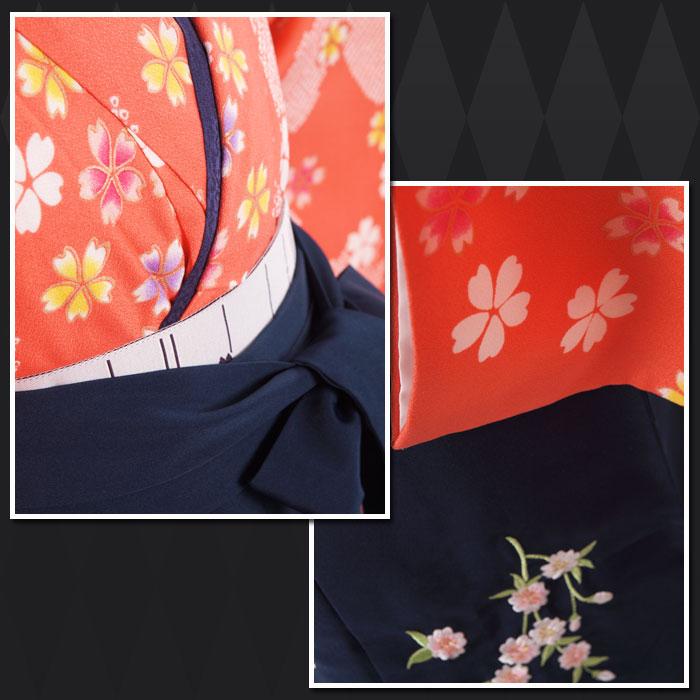 |送料無料|【uuu】卒業式レンタル袴フルセット-1188