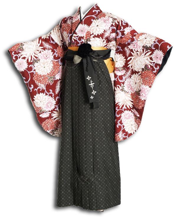 |送料無料|卒業式レンタル袴フルセット-877