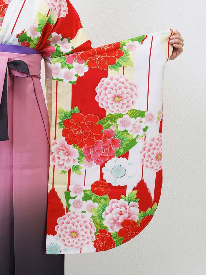 【h】|送料無料|卒業式レンタル袴フルセット-1301
