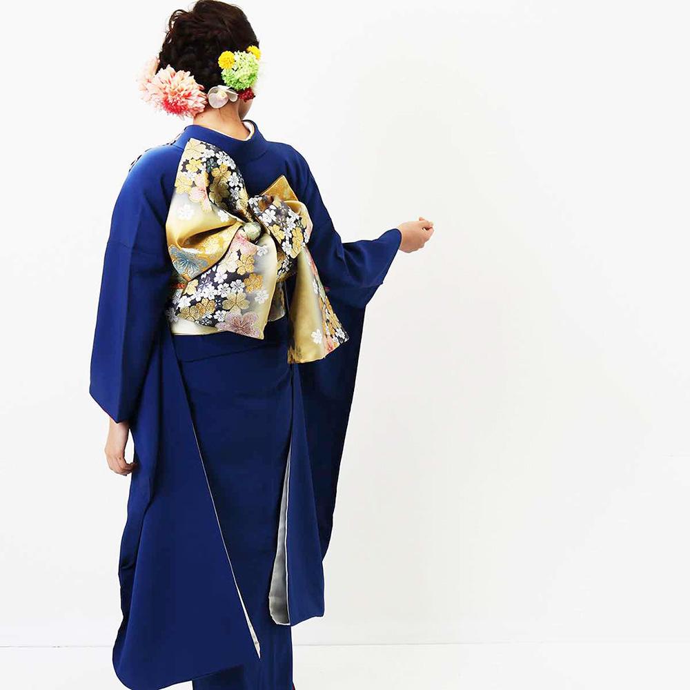 |送料無料|【レンタル】【成人式】 [安心の長期間レンタル]【対応身長155cm〜170cm】【正絹】レンタル振袖フルセット-113|花柄|レトロ|