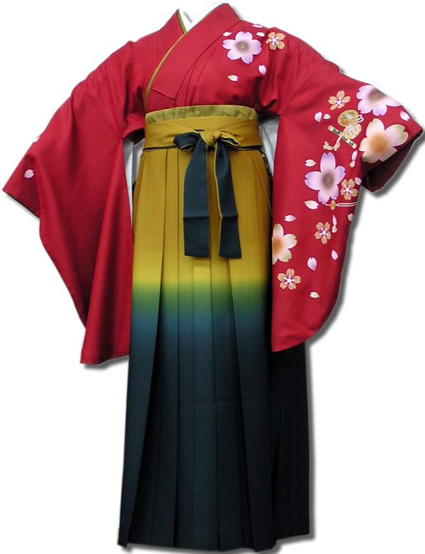 |送料無料|卒業式レンタル袴フルセット-504