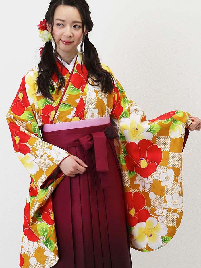 【h】|送料無料|卒業式レンタル袴フルセット-1302