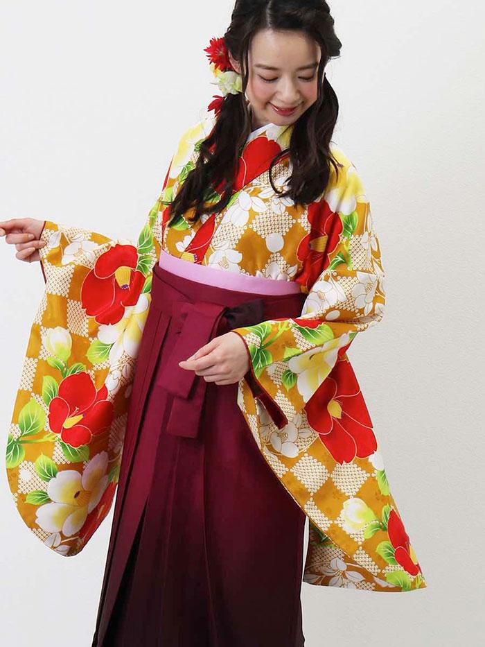 【h】 送料無料 卒業式レンタル袴フルセット-1302