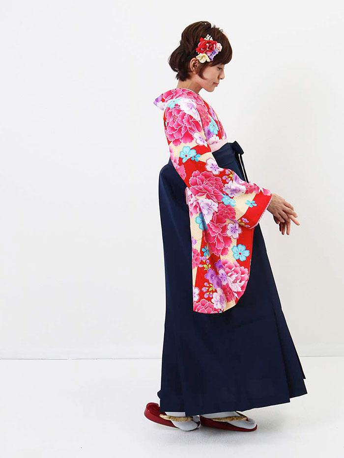 【h】|送料無料|卒業式レンタル袴フルセット-986