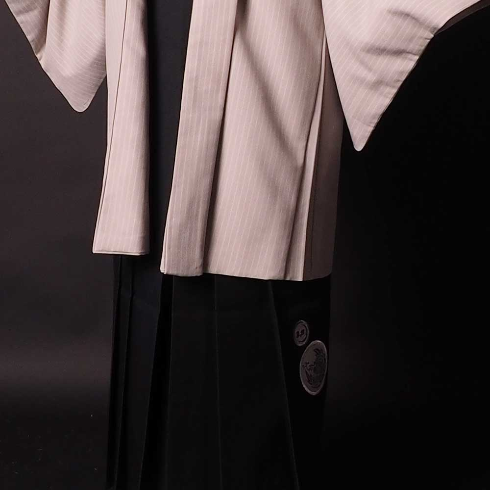  送料無料 【レンタル】【成人式】安心の最大1ヶ月レンタル可能 男性用レンタル紋付き袴フルセット-7243