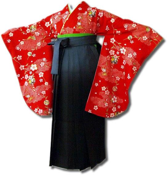 |送料無料|卒業式レンタル袴フルセット-625