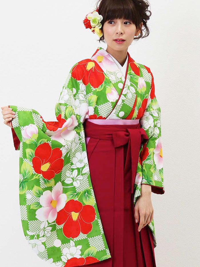 |送料無料|卒業式レンタル袴フルセット-1304