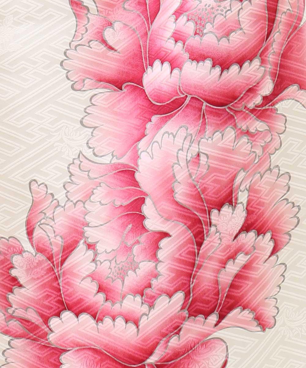 |送料無料|【レンタル】【成人式】 [安心の長期間レンタル]【対応身長155cm〜170cm】【正絹】レンタル振袖フルセット-336|花柄|レトロ|