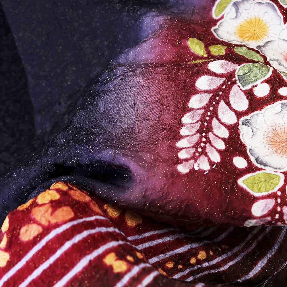 |送料無料|【レンタル】【成人式】 [安心の長期間レンタル]【対応身長155cm〜170cm】【正絹】レンタル振袖フルセット-231|花柄|クール