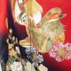 【成人式】 [安心の長期間レンタル]【対応身長150cm〜165cm】レンタル振袖フルセット-887 花柄 レトロ 定番 古典 クール系 赤系 黒系 鴛