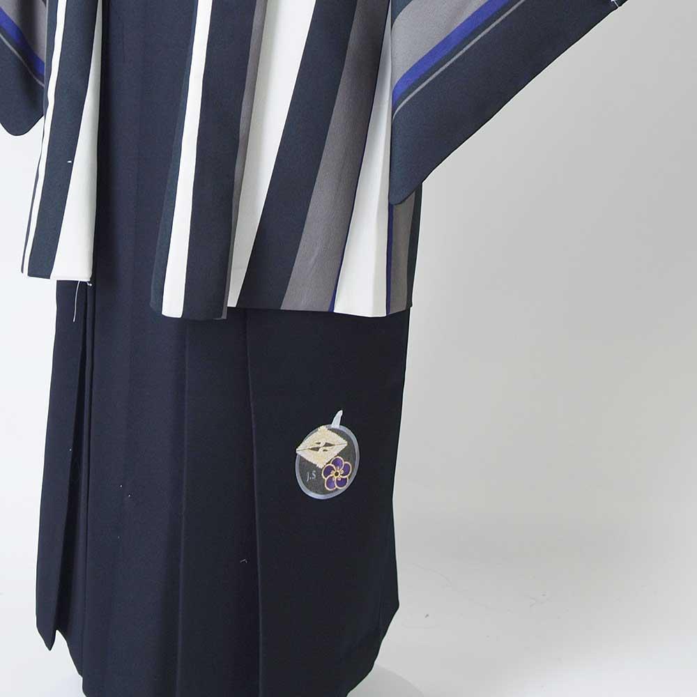 |送料無料|【レンタル】【成人式】安心の最大1ヶ月レンタル可能 男性用レンタル紋付き袴フルセット-7081