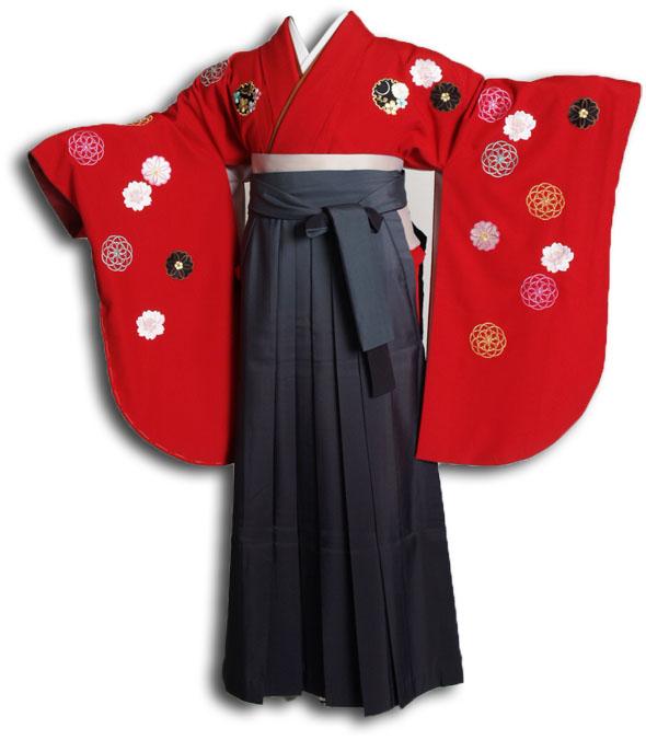 |送料無料|卒業式レンタル袴フルセット-883