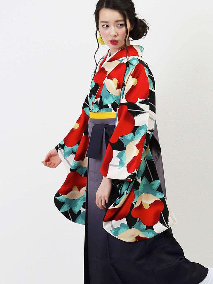 【h】|送料無料|卒業式レンタル袴フルセット-1307