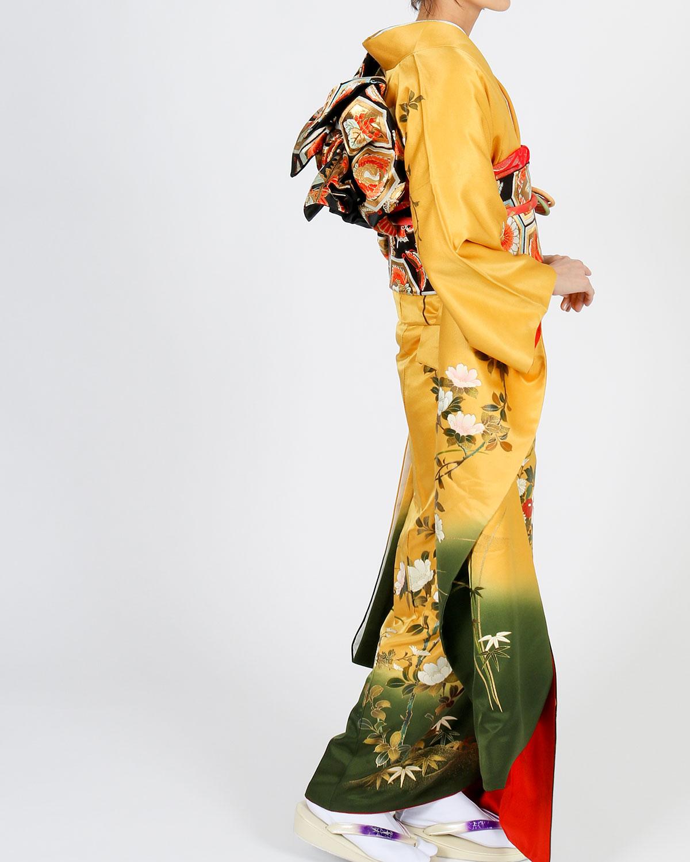 |送料無料|【レンタル】【成人式】 [安心の長期間レンタル]【対応身長150cm〜165cm】レンタル振袖フルセット-888|花柄|レトロ|定番|古