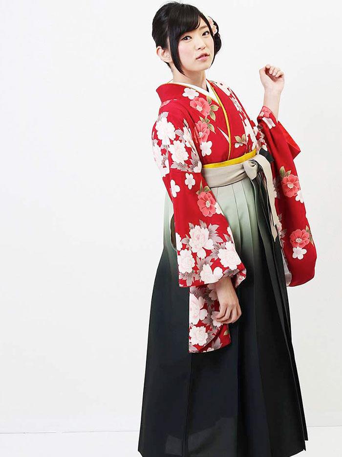 【h】|送料無料|卒業式レンタル袴フルセット-630