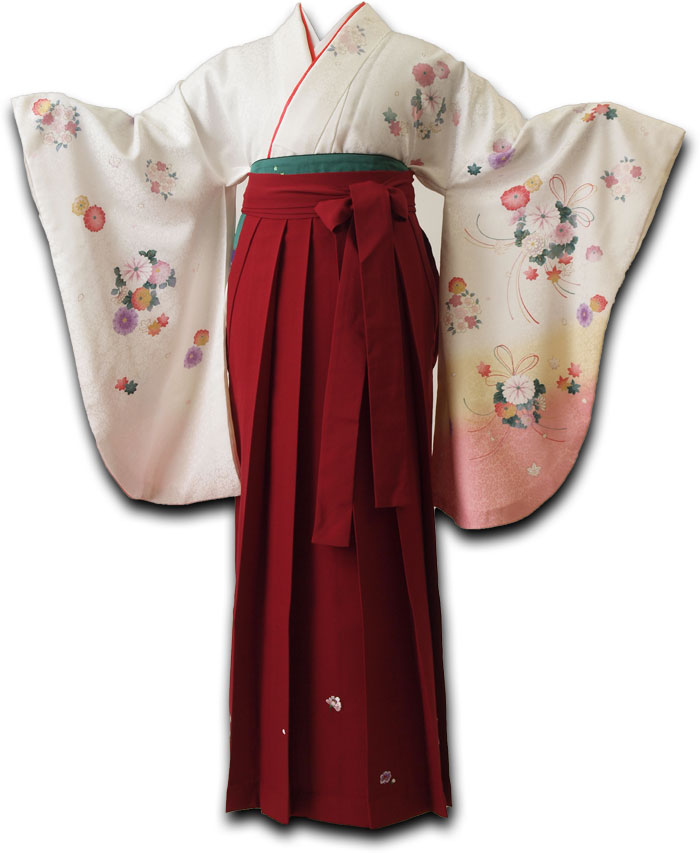 |送料無料|卒業式レンタル袴フルセット-1058