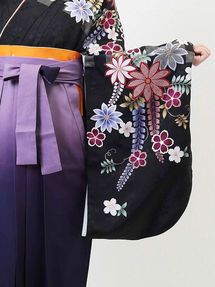 【h】|送料無料|卒業式レンタル袴フルセット-631