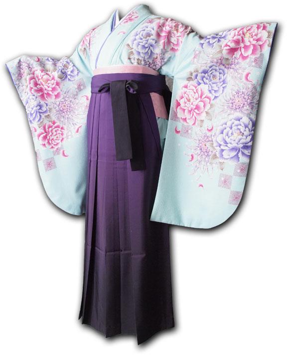 【h】 送料無料 卒業式レンタル袴フルセット-992