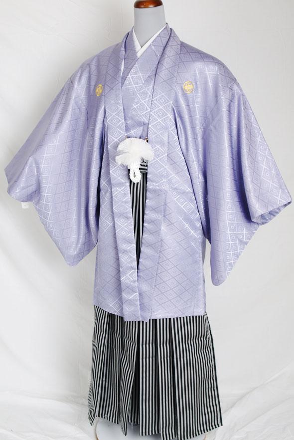 |送料無料|【成人式・卒業式】男性用レンタル紋付き袴フルセット-7252