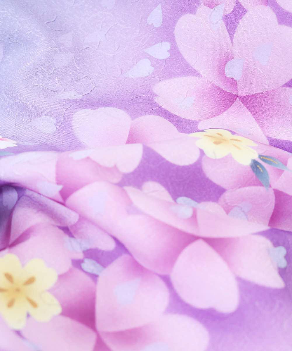 |送料無料|【対応身長157cm〜165cm】【正統派】卒業式レンタル袴フルセット-1059|マルチカラー|花柄|桜|紫|臙脂|