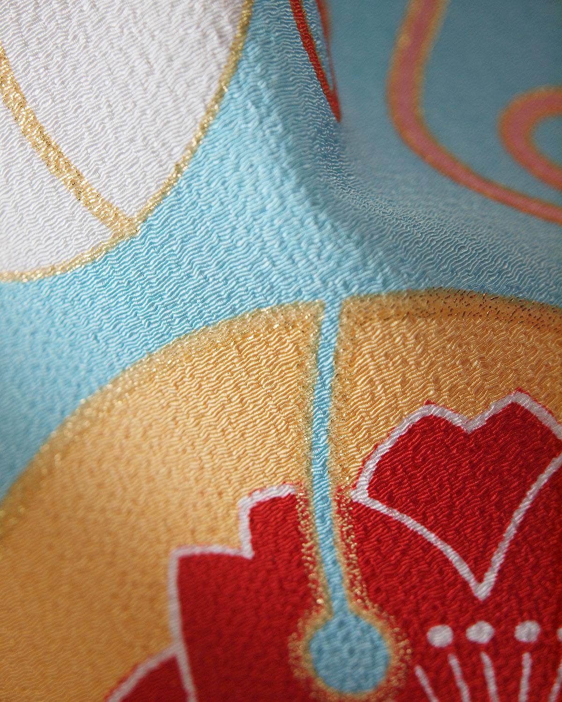 |送料無料|【対応身長150cm〜157cm】【キュート】卒業式レンタル袴フルセット-1061|鈴|水色|オレンジ|黄色|紺|
