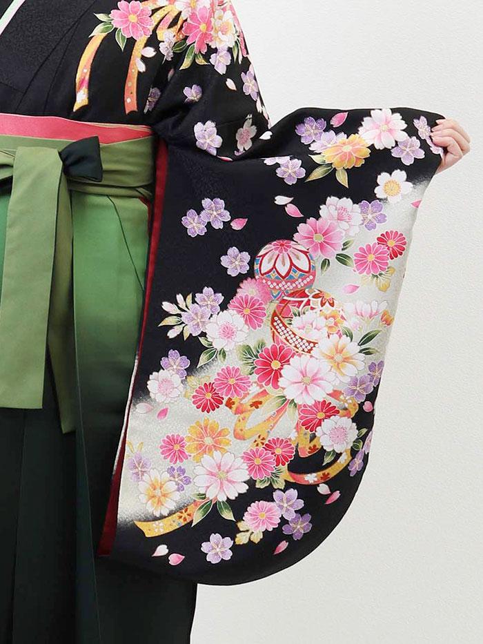 【h】|送料無料|卒業式レンタル袴フルセット-636