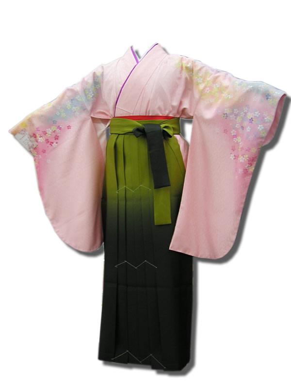 |送料無料|卒業式レンタル袴フルセット-520