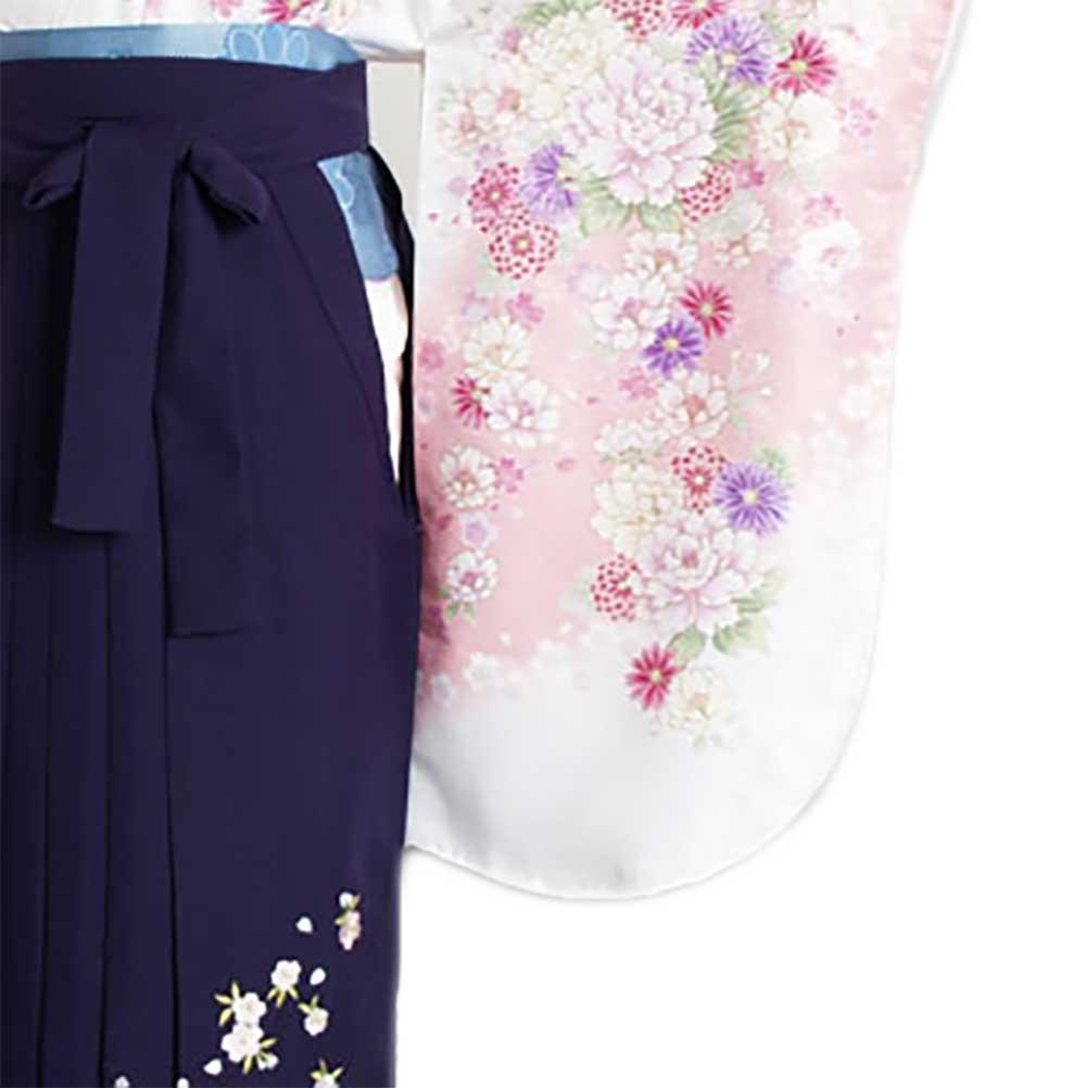 |送料無料|【uxu】卒業式レンタル袴フルセット-890