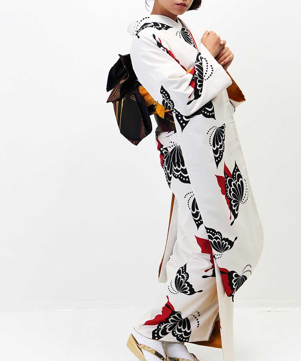  送料無料 【レンタル】【成人式】 [安心の長期間レンタル]【対応身長155cm〜170cm】【合繊】レンタル振袖フルセット-241 レトロ クー