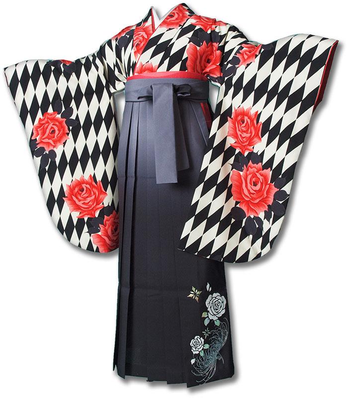 |送料無料|卒業式レンタル袴フルセット-1202