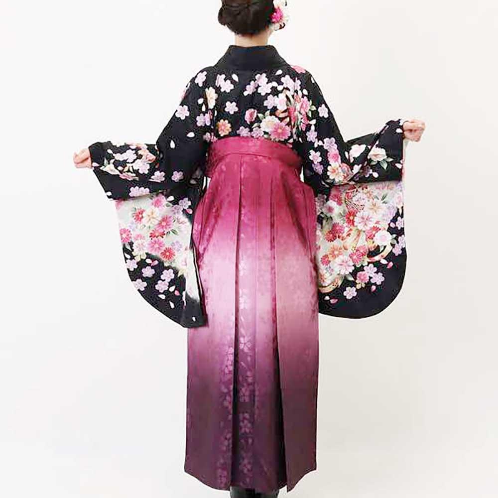 【h】|送料無料|卒業式レンタル袴フルセット-891