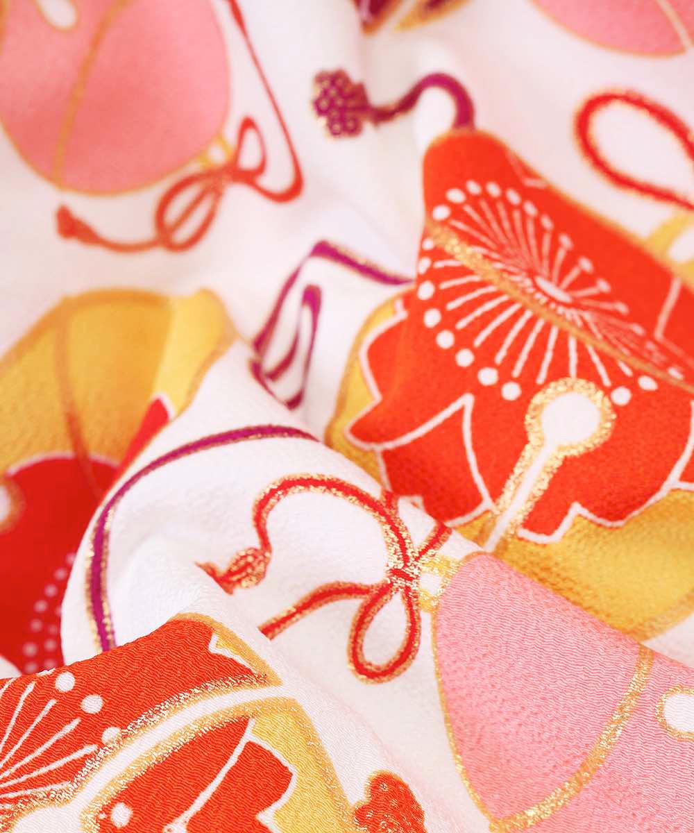 【h】|送料無料|【対応身長157cm〜165cm】【レトロ】卒業式レンタル袴フルセット-1066|マルチカラー|花柄|桜|鈴|白|オレンジ|紺