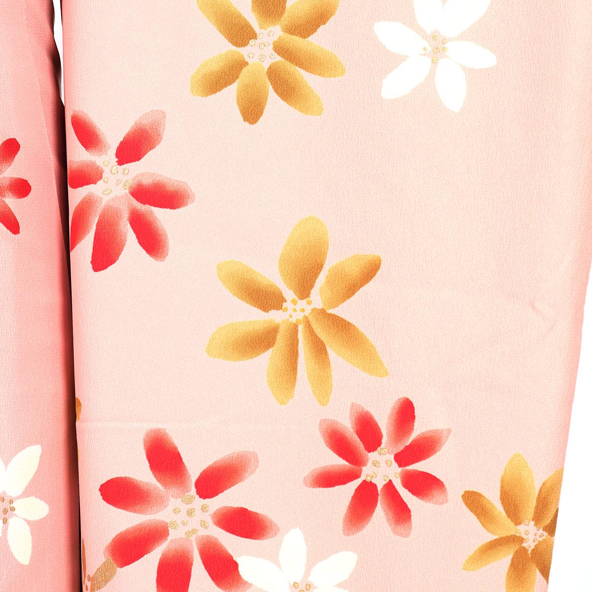 【成人式】 [安心の長期間レンタル]【対応身長155cm〜170cm】レンタル振袖フルセット-904 花柄 レトロ 定番 ポップキュート ピンク系 ツ