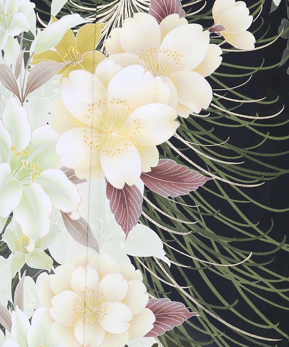 |送料無料|【レンタル】【成人式】 [安心の長期間レンタル]【対応身長155cm〜170cm】【合繊】レンタル振袖フルセット-350|花柄|定番|ク