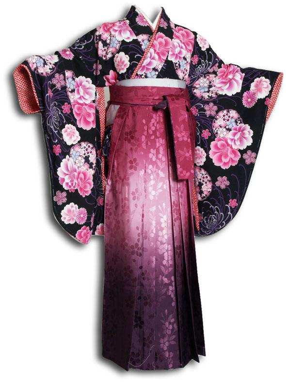  送料無料 卒業式レンタル袴フルセット-895