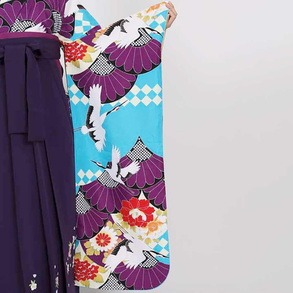  送料無料 卒業式レンタル袴フルセット-8007往復送料無料卒業式袴レンタル女袴セット卒業式袴セット