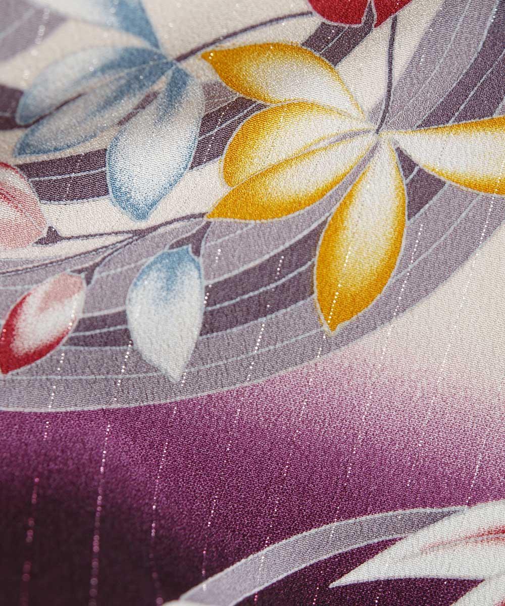 |送料無料|【レンタル】【成人式】 [安心の長期間レンタル]【対応身長155cm〜170cm】【合繊】レンタル振袖フルセット-352|花柄|レトロ|
