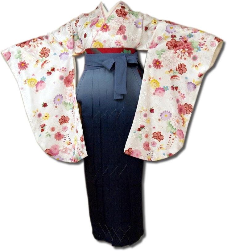 |送料無料|卒業式レンタル袴フルセット-648