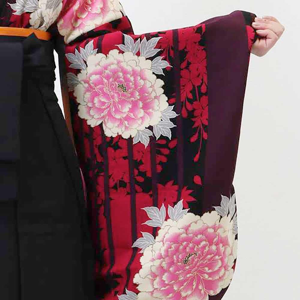 【h】|送料無料|卒業式レンタル袴フルセット-1208