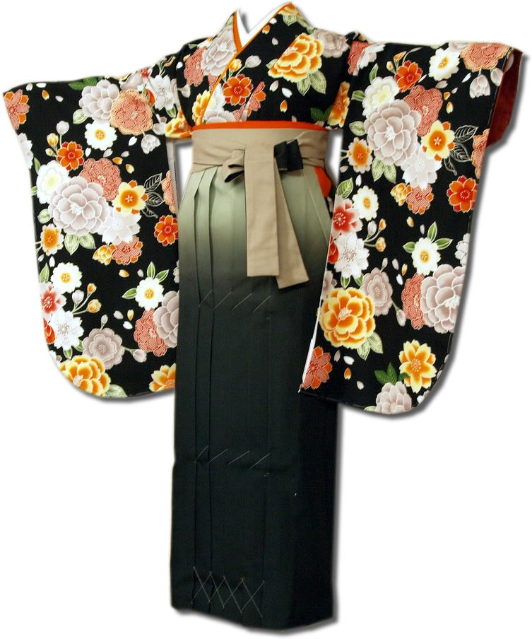 |送料無料|卒業式レンタル袴フルセット-649