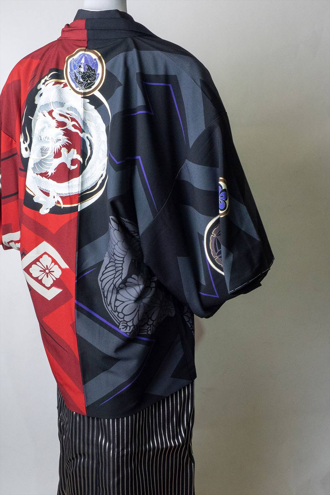  送料無料 【レンタル】【成人式】【対応身長160cm-170cm】男性用レンタル紋付き袴フルセット