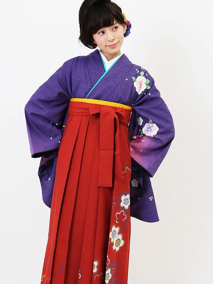 |送料無料|卒業式レンタル袴フルセット-789