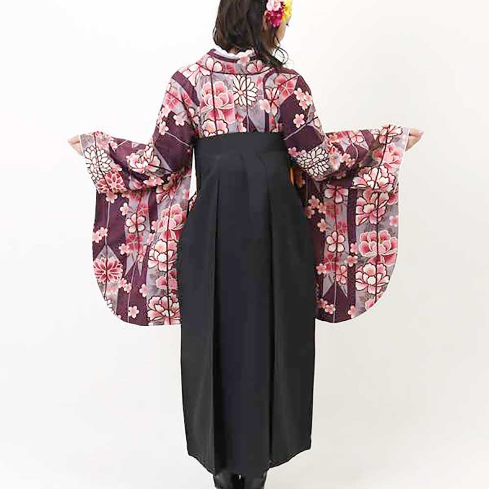 【h】 送料無料 卒業式レンタル袴フルセット-1932