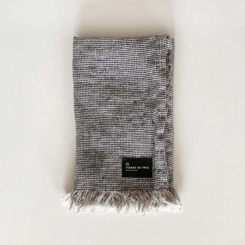 VIENAS DU TRYS Face towel black ヴィエナス・ドゥ・トゥリス フェイスタオル ブラック