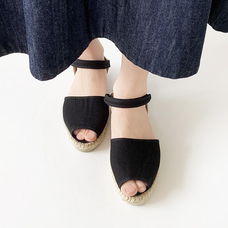 【SALE】LA CADENA Sandals ラ カデナ ストラップ サンダル レディース