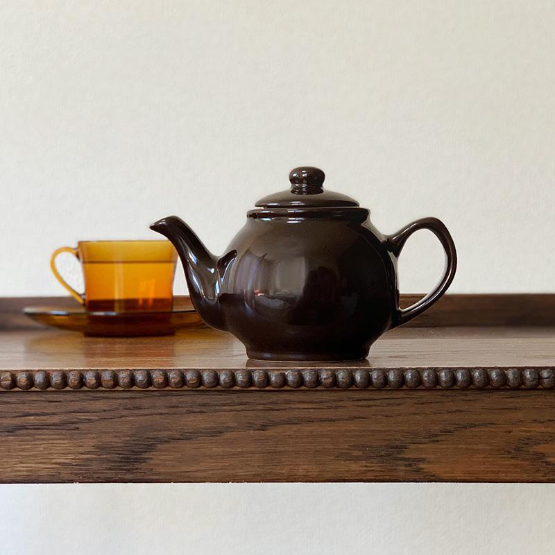 Price&Kensington Teapot brown プライス&ケンジントン ティーポット ブラウン 2カップ/ストレーナー付