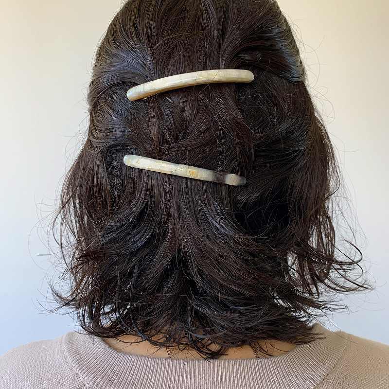 9535 KOST KAMM Hairclip extra slender shape 6cm コストカム ヘアクリップ 細身 6cm