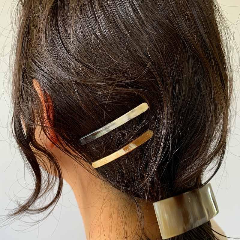 9537 KOST KAMM Hairclip extra slender shape 5cm コストカム ヘアクリップ 細身 5cm