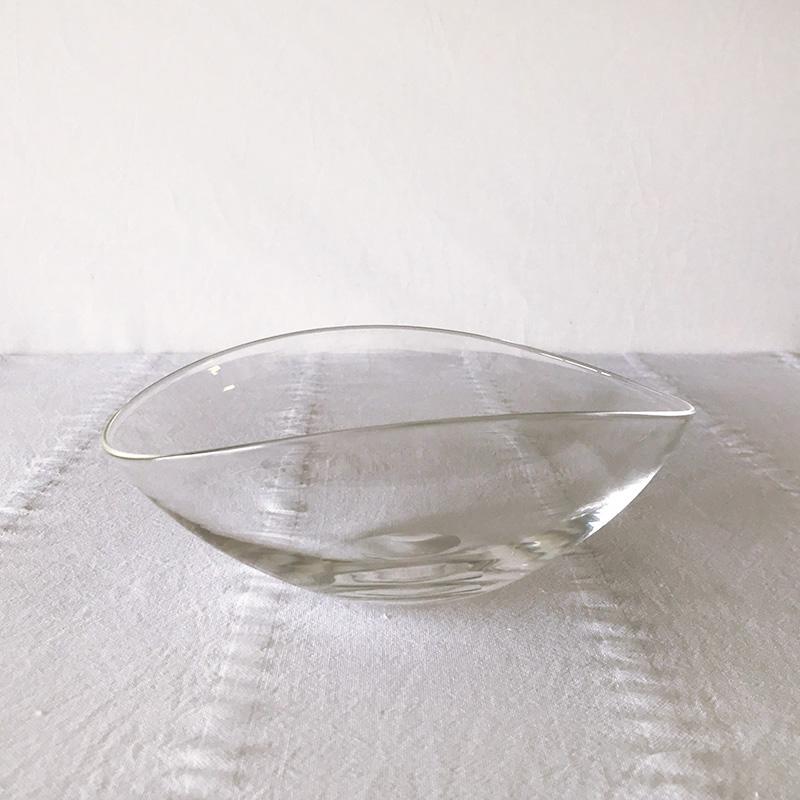 STUDIO PREPA Lotus glass bowl M スタジオ プレパ  ロータス ガラスボウル M