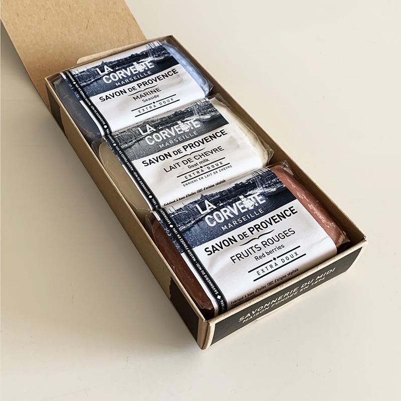 LA CORVETTE Fragrance soap Tricolore set ラ・コルベット  フレグランスソープトリコロールセット